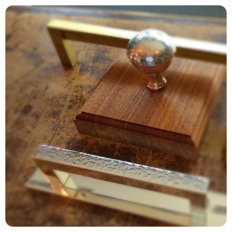 hand hammered silver hardware
