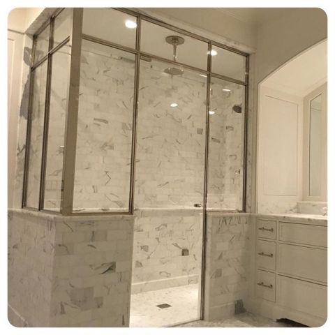 amazing original by master bath polished nickel shower enclosure