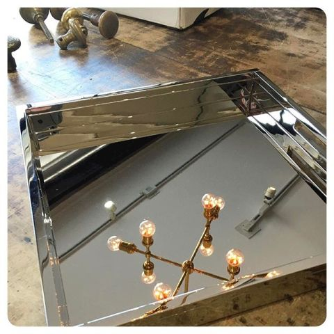 polished nickel tray - love this