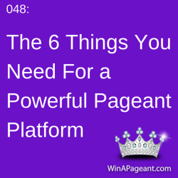 048 - how to make a pageant platform
