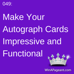049 - what to put on my autograph cards