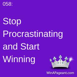 58 - stop procrastinating and start winning