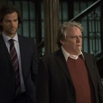 """Supernatural -- """" All In The Family"""" -- SN1121a_0272.jpg -- Pictured (L-R): Jared Padalecki as Samand Keith Szarabajka as Donatello Redfield -- Photo: Katie Yu/The CW -- © 2016 The CW Network, LLC. All Rights Reserved"""