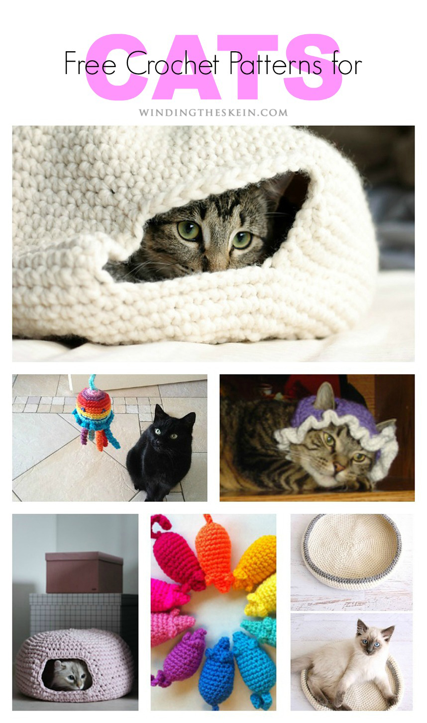 23 Free Crochet Patterns for Household Pets - Winding the ...