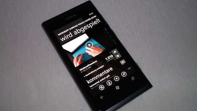 Lumia 800 MetroTube