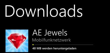 Laden von Apps > 20 MB