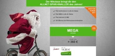 modeo Tarif Nikolaus Paket mit 2GB Internet