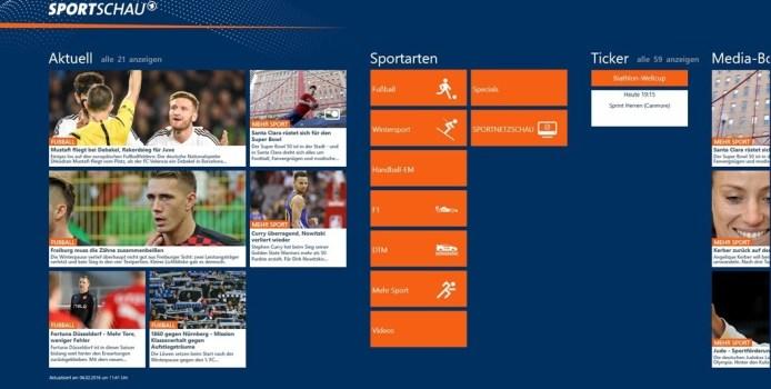 Die Sportschau als Universal-App erhältlich