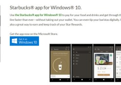 Starbucks App Windows 10 Mobile