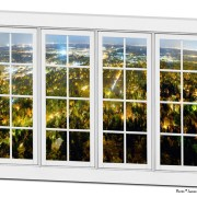 City Lights White Window Penthouse View 32″x48″x1.25″ Canvas Wrap Art