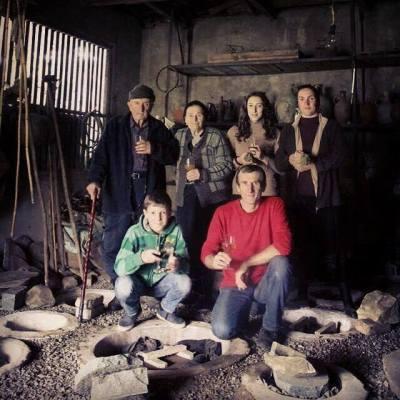 Archil Guniava and family in Imereti