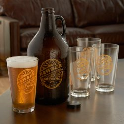 Small Crop Of Personalized Beer Glasses