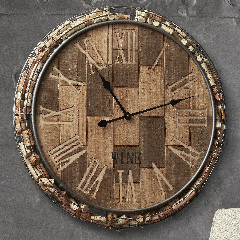 Sunshiny Preparing Zoom Cork Catcher Wall Clock Wine Enthusiast Standard Wall Clock Size Standard Wall Clock furniture Standard Wall Clocks