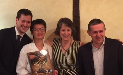 Giampiero, Elide, and Enrico Cordero with Suzanne after yet another gastronomic feast at il Centro.