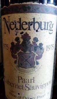 Nederburg Paarl Cabernet Sauvignon 1975