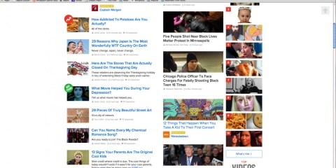 Buzzfeed screen