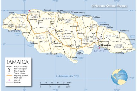 jamaica administrative map