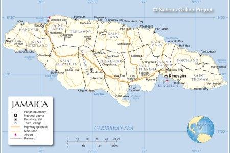 jamaica administrative map
