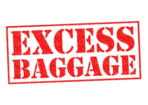 EXCESS BAGGAGE red Rubber stamp over a white background.