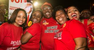 Sep. 7th 2015: dureing the General Elections for the Republic of Trinidad and Tobago at Baliser House, Port of Spain. Photo: Allan V. Crane