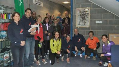 WRC members gather to celebrate unveiling of artwork to the leisure centre