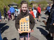 Amelia Corke 1 st girl & Wendy Smith shield