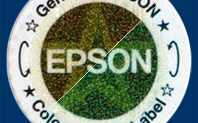 Epson color-shifting label