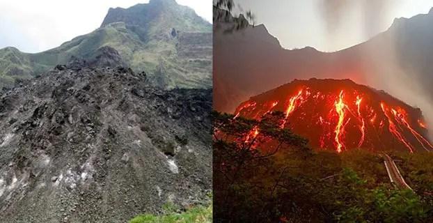 wisata gunung kelud kubah lava sebelum meletus