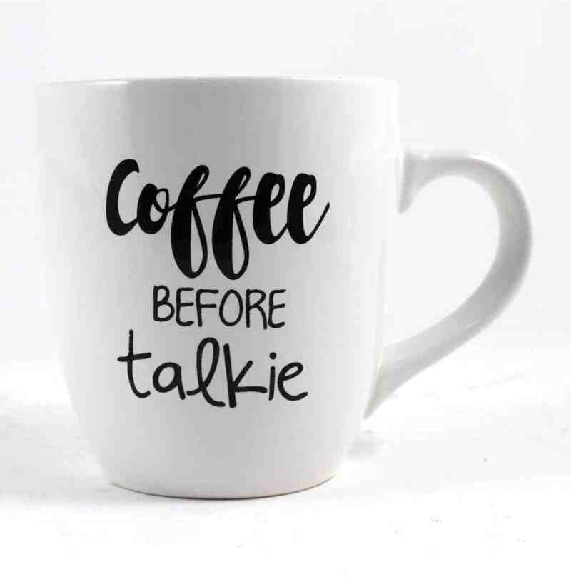 Sterling Coffee Before Talkie Oversize Mug Wish Kitchen Gift Oversized Coffee Mugs