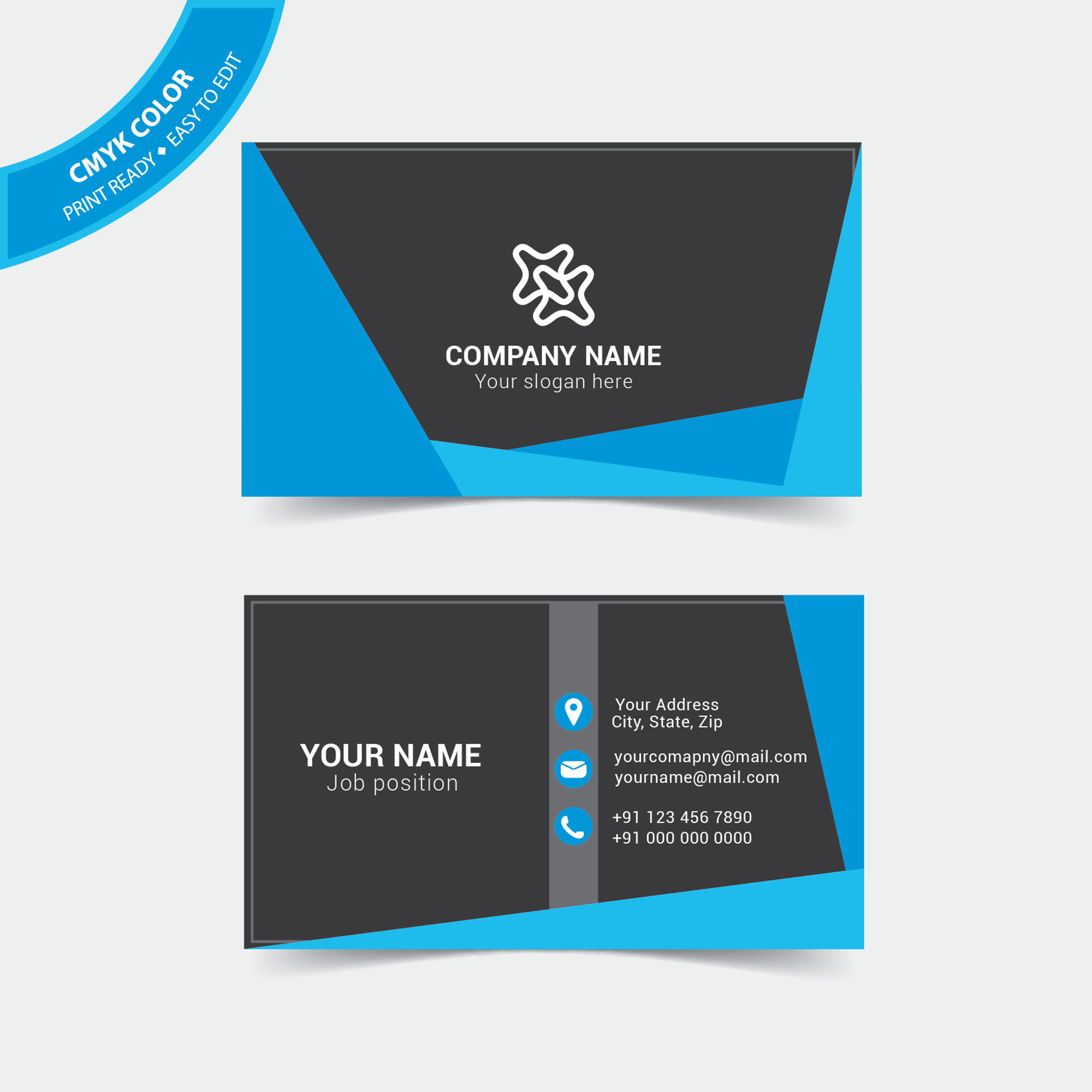 Perky Business Business Visiting Card Design Free Download Business Card Maker Business Card Her Desk cards Modern Business Card