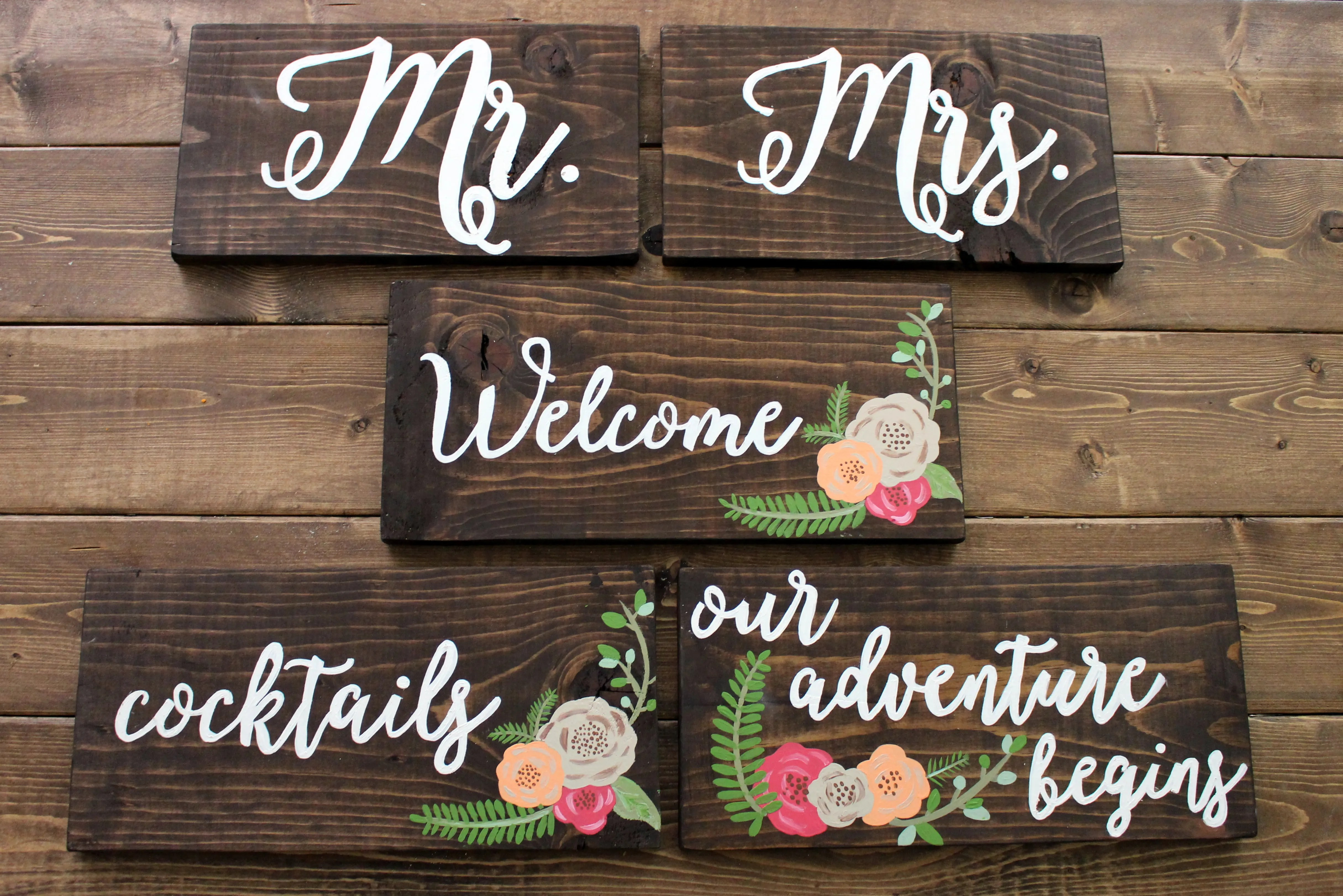 Diy Wedding Calligraphy Signs Within The Grove