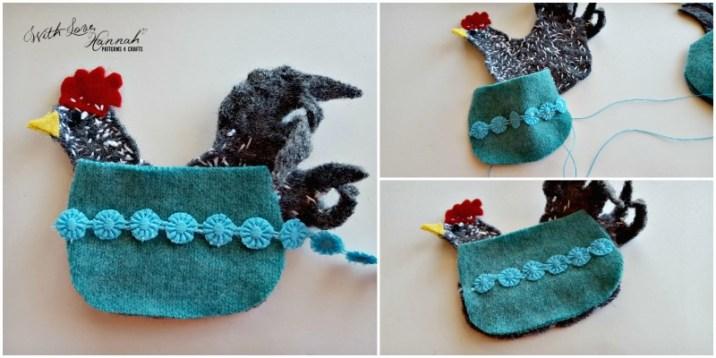 Wool Felt Hen Needle Book Pattern & Tutorial