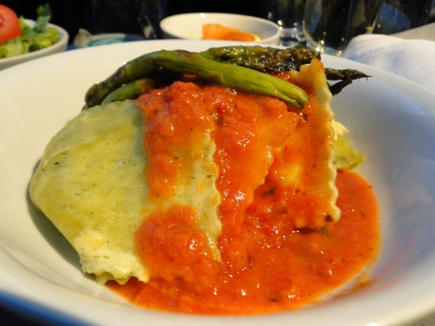 Ravioli on United Airlines