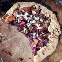 Rustic Root Vegetable Pie with Blue Cheese & Herbs
