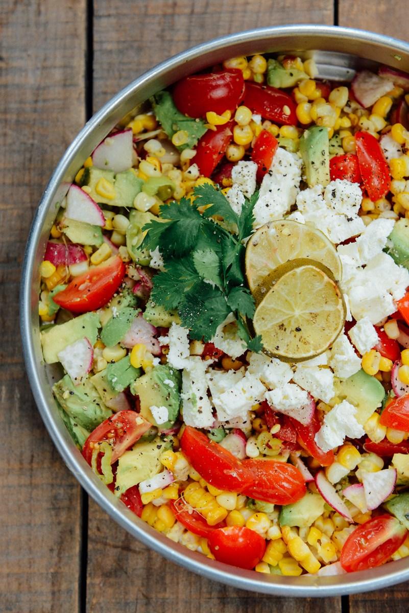 Roasted Corn Summer Salad