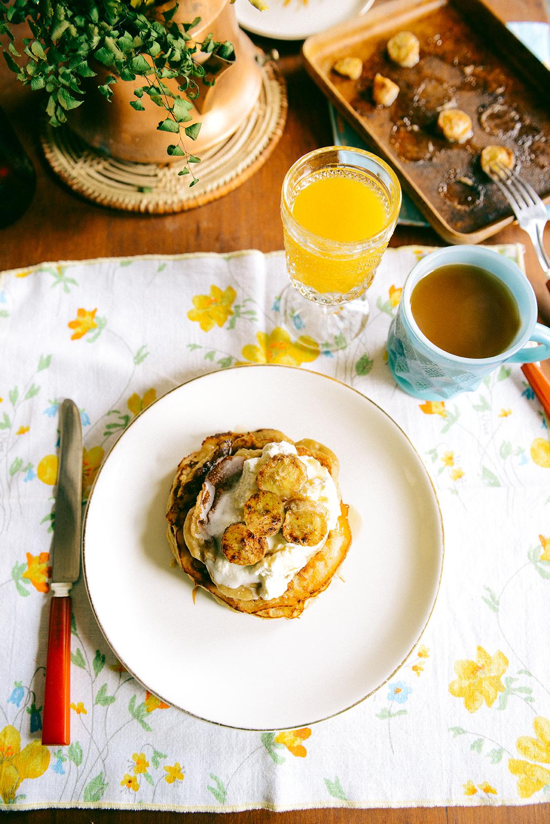 Whole Wheat Honey Banana Pancakes with Honey Cinnamon Whipped Cream ...