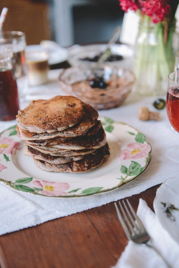 Valentine's Day: Chocolate Chip Pancakes & A Honey Themed Gift // www.WithTheGrains.com