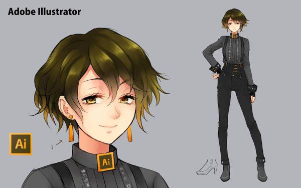 Adobe Illustrator Anime