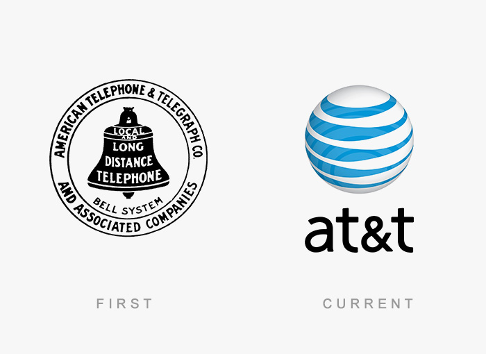 At&t old and new logo