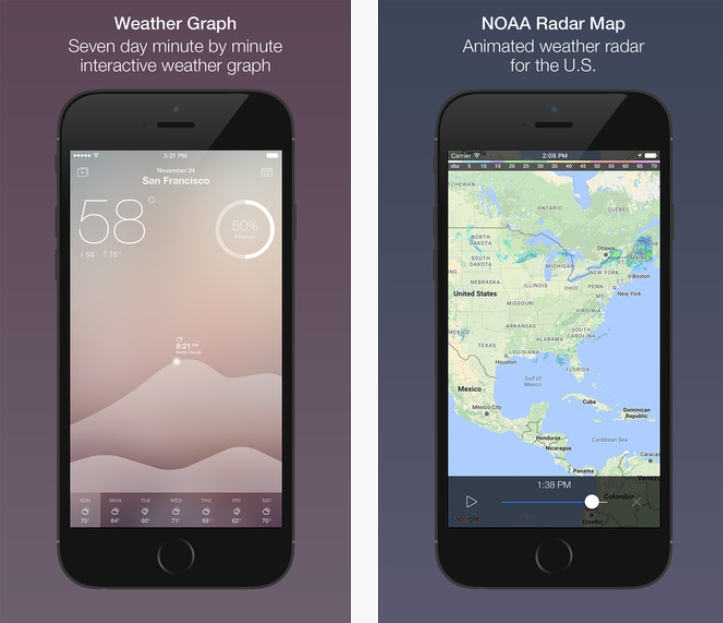 Fresh Air is a beautiful weather app