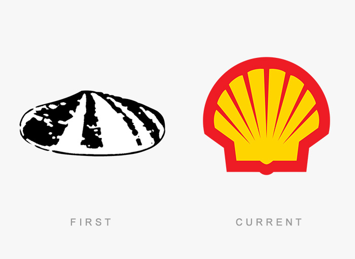Shell old and new logo