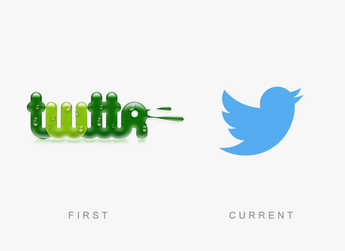 Twitter old and new logo