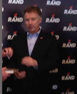 rand paul at clock