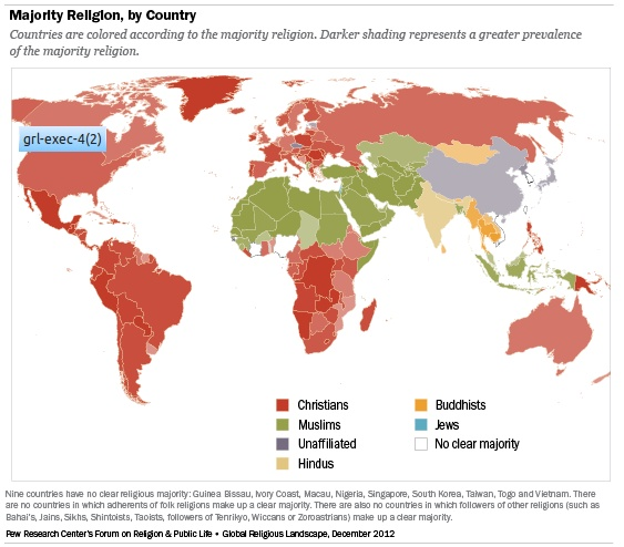 Pew's Religion Map