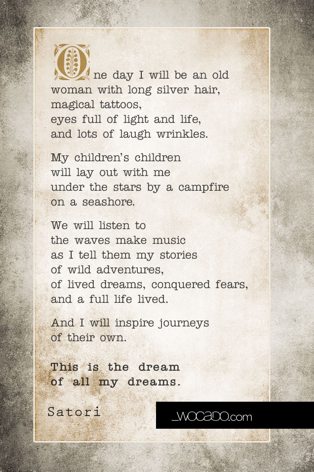 The Dream of All My Dreams - Quote Poster by WOCADO