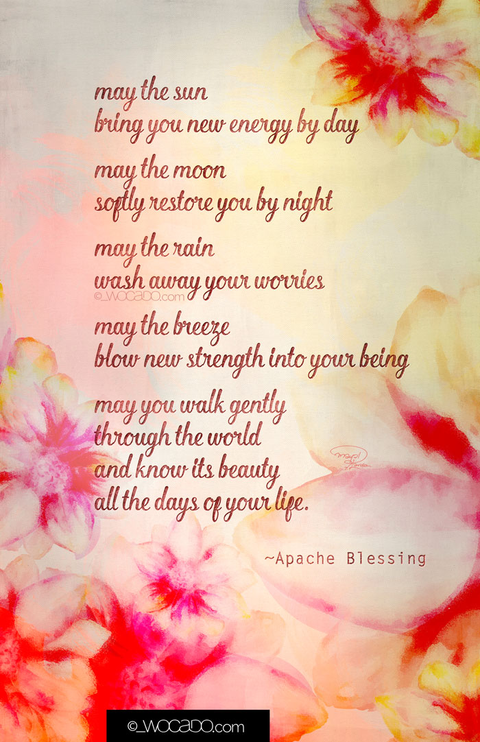 May the Sun Apache Blessing Printable by WOCADO