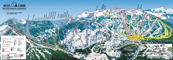 Wolf Creek Ski Area Trail Map