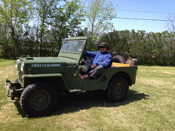 Wolfmaan in Army Jeep
