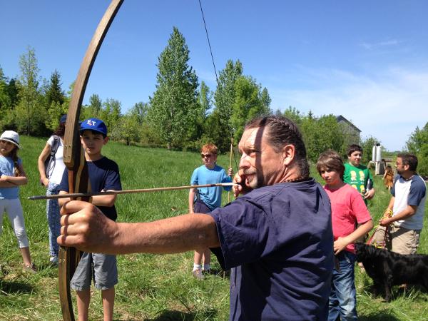 Bill doing Archery