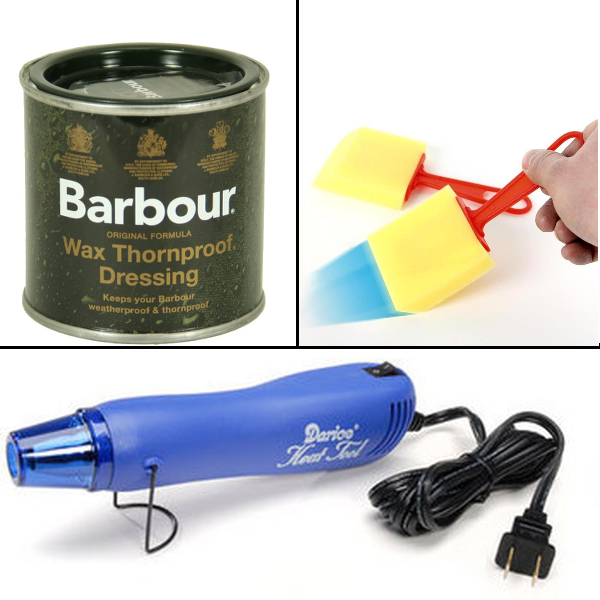 Barbour Wax, Craft Sponge, Heat Gun